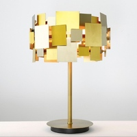 Post modern Creative Designer Gold Metal Sheets E27 Table Lamp for Living Room Bedroom Study Deco Light H 50cm 2193