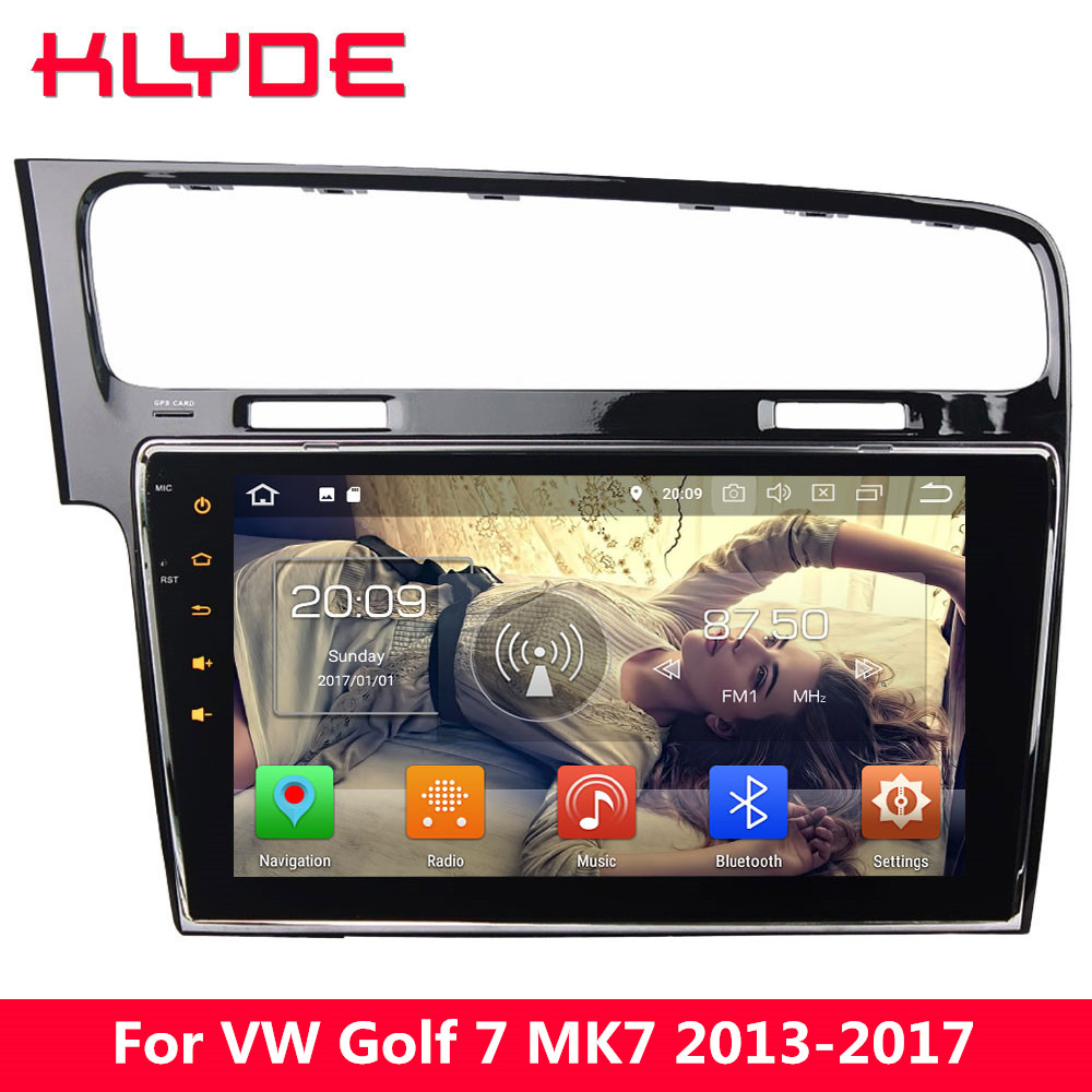 KLYDE 10.1 IPS 4G Android 8 Octa Core 4GB RAM 32GB ROM Car DVD Multimedia Player Stereo For Volkswagen VW Golf 7 MK7 2013-2017 klyde 8 4g android 8 7 1 octa core 4gb ram 32gb rom car dvd player stereo for ford transit custom 2013 2014 2015 2016 2017 2018