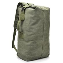 Large Capacity Rucksack Man Travel Bag Mountaineering Backpack Male Luggage Boys Canvas Bucket Bags Men Backpacks Small Green male bag 50 litres multi purpose travel backpack water proof oxford 1680 d bags luggage capacity mountaineering backpack bags