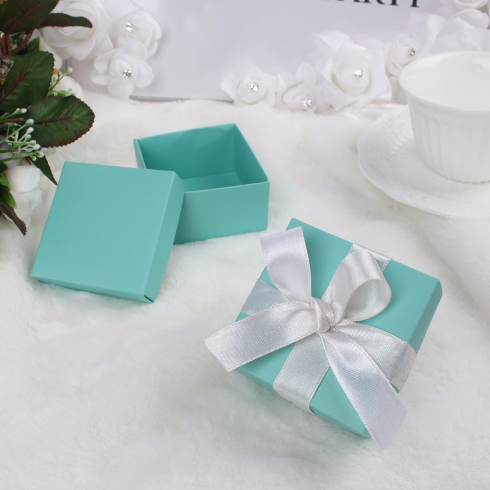 Aytai 100pcs Wedding Favor Tiffany Candy Boxes Paperboard Jewelry ...