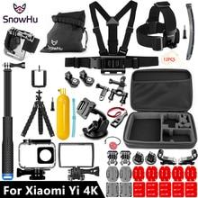 Xiaomi Için SnowHu Yi 4 K Aksesuarları set 45 M Dalış Spor Su Geçirmez kutu monopod dağı Için xiaomi Için Yi 4 K 4 k + Eylem Kamera Y27