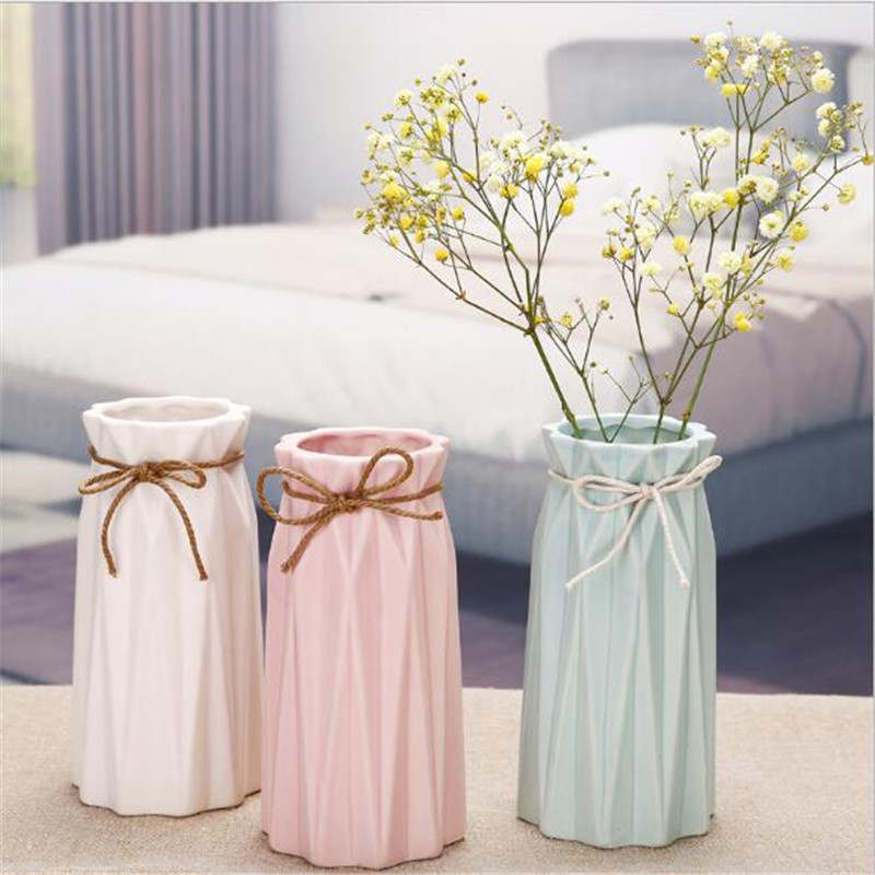 Simple Matte Ceramic Vase Home Decoration Dry Flower Dining Table Living Room