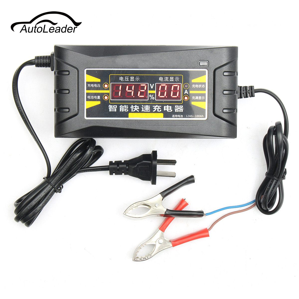 1pc 12V 6A Smart Fast Battery Charger For Car Motorcycle LCD Display