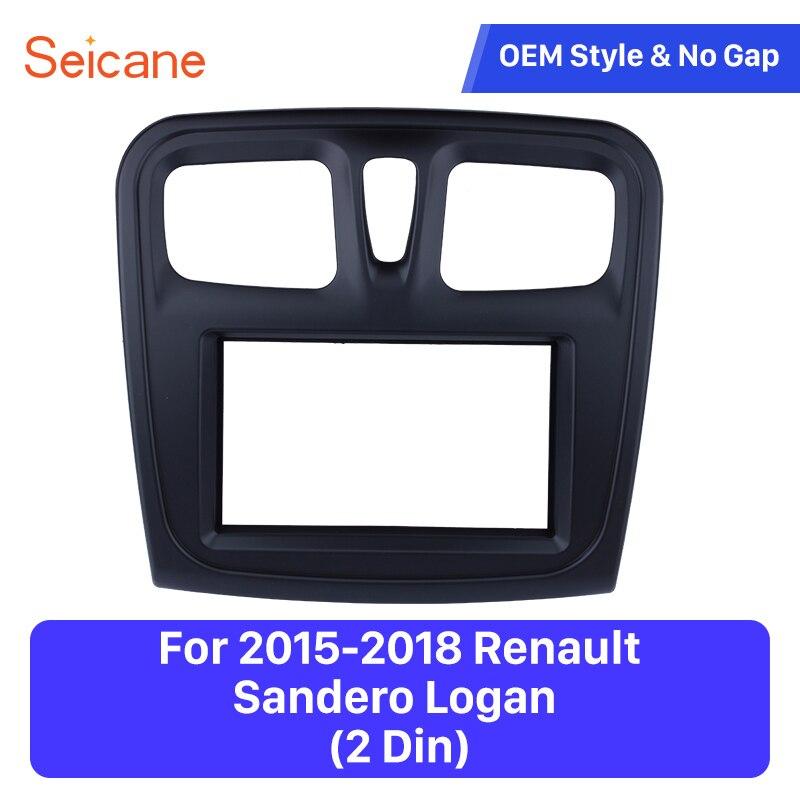 Seicane 2Din 173 98mm Great quality Black Color Dash Panel Mount Kit font b Car b