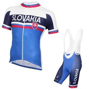2c1745395 summer Short sleeve pro team slovakia cycling jersey mens breathable racing  bike