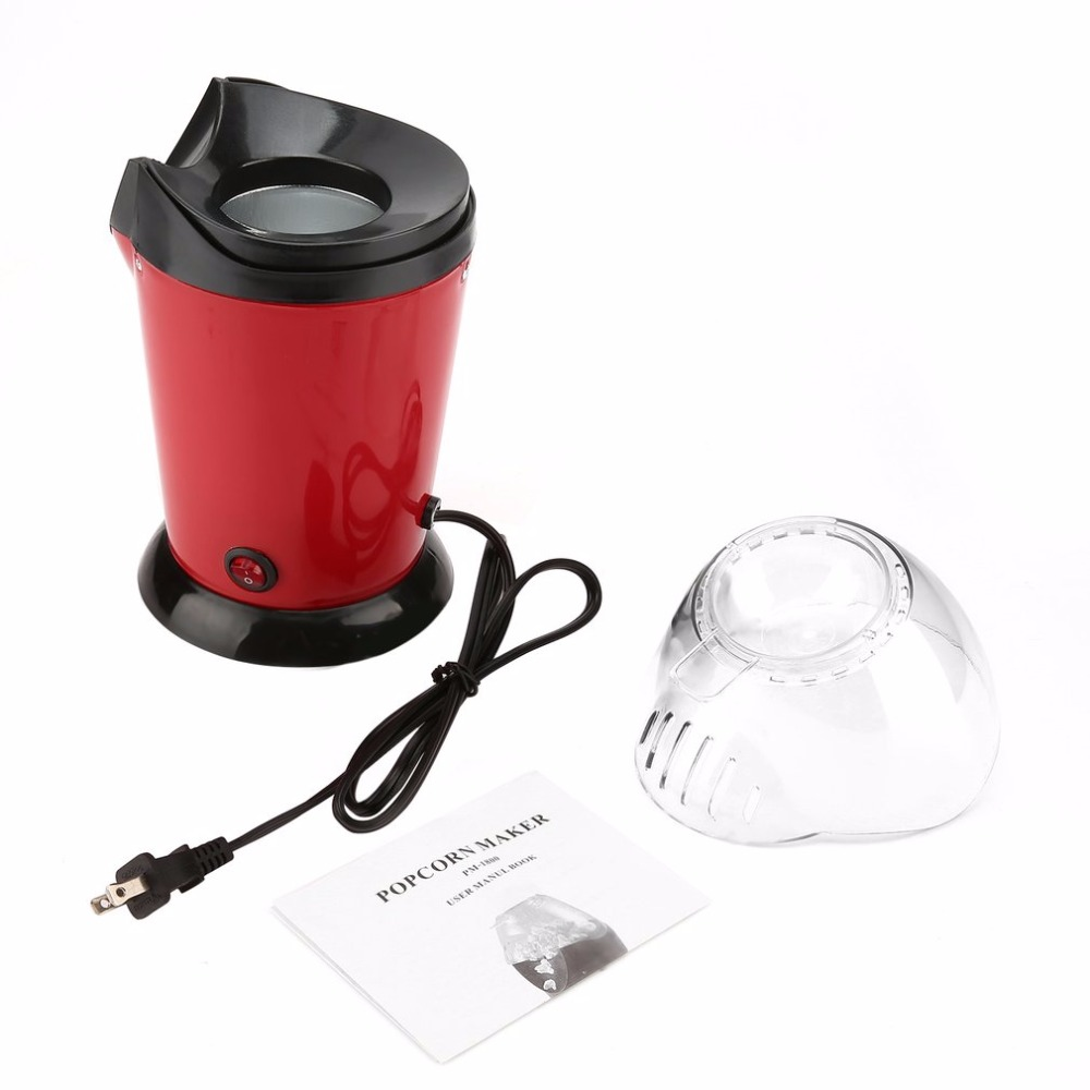 Electric Popcorn Maker Home Round/Square Hot Air Popcorn Making Machine Kitchen Desktop Mini DIY Corn Maker With EU /US Plug high quality commercial home hot selling domestic electric gas hot air popcorn maker popcorn machine
