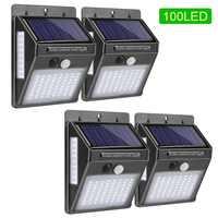 Außen Beleuchtung 100 LED Solar Wand Licht Wasserdichte Outdoor Lampe LED Mit PIR Motion Sensor Außen Licht