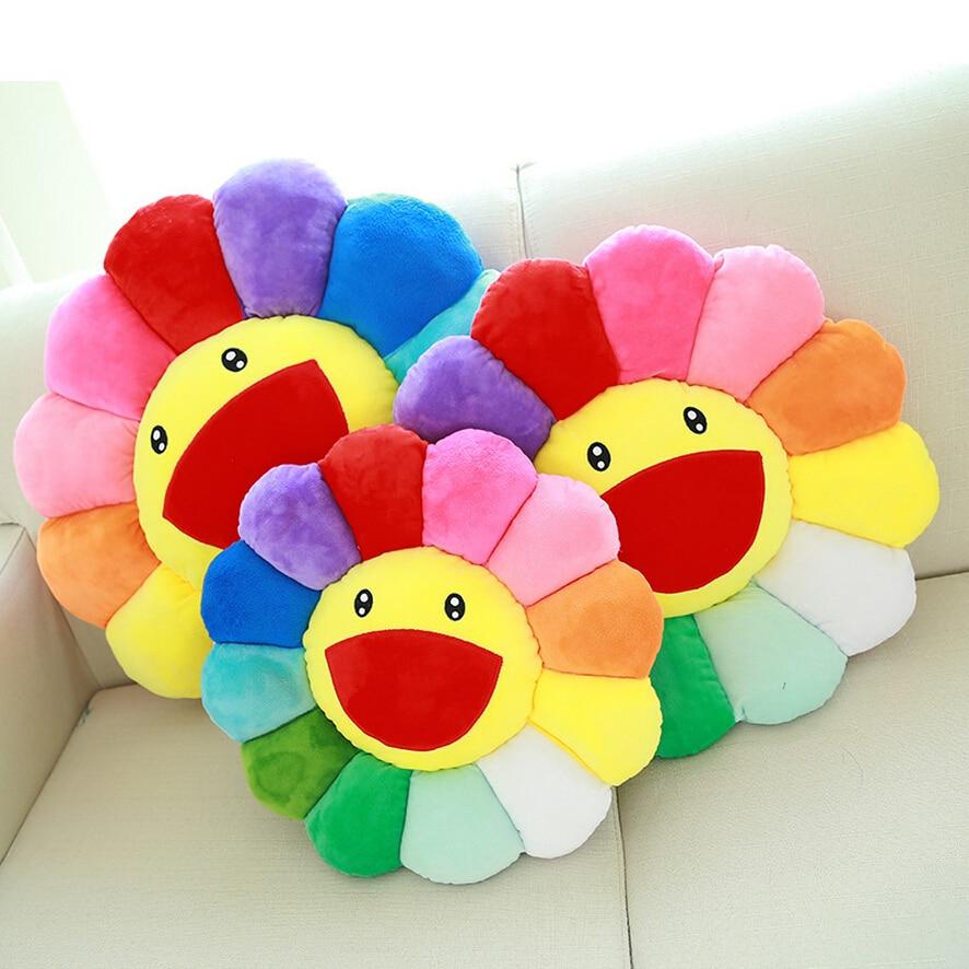Colourful Sun Flower Shape Throw PillowsCushions Home  : Colourful Sun Flower Shape Throw Pillows Cushions Home Decor Kawaii Pillow Emoji Decorative Pillows for Sofa from www.aliexpress.com size 886 x 886 jpeg 814kB