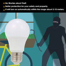 NEW E26/E27 LED Light Bulb with Motion Sensor Intelligent Human Body Induction Lamp Smart Light for Front Door Stairs Garden(China)