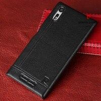 Original Pierre Cardin Genuine Leather Hard Back Cover Case For Sony Xperia XZ F8331 Xperia XZ