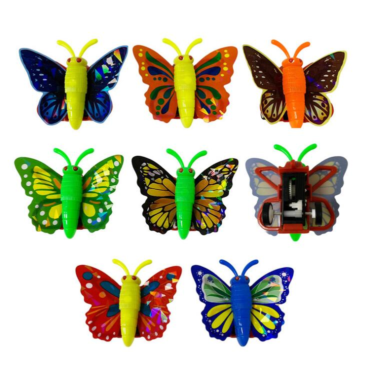 4cm 12 Mini plastic Butterflies Butterfly! Gift Educational Party bag toy