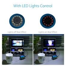 Eyoyo Original 50M Professional Fish Finder Underwater Fishing Video Camera 7″ Color Monitor 1000TVL HD CAM 12pc Infrared lights