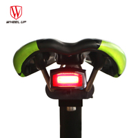 Anti thift MTB Bike Alarm Rechargeable Bicycle Laser Light Mountain Bike Rear Light Wireless Remote Control Alarm Cycling Lights