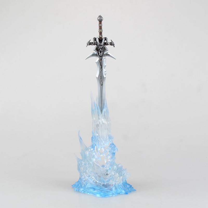 "WOW Arthas Menethil's Weapon Frostmourne Sword with Lighting Figma Starz Game Anime pvc action figure toy kids birthday toys 11"" 2"