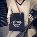 Hot Sale Canvas Handbags Personality Contracted Large Bag Double Rope Shoulder Bags For Women Women Handbag