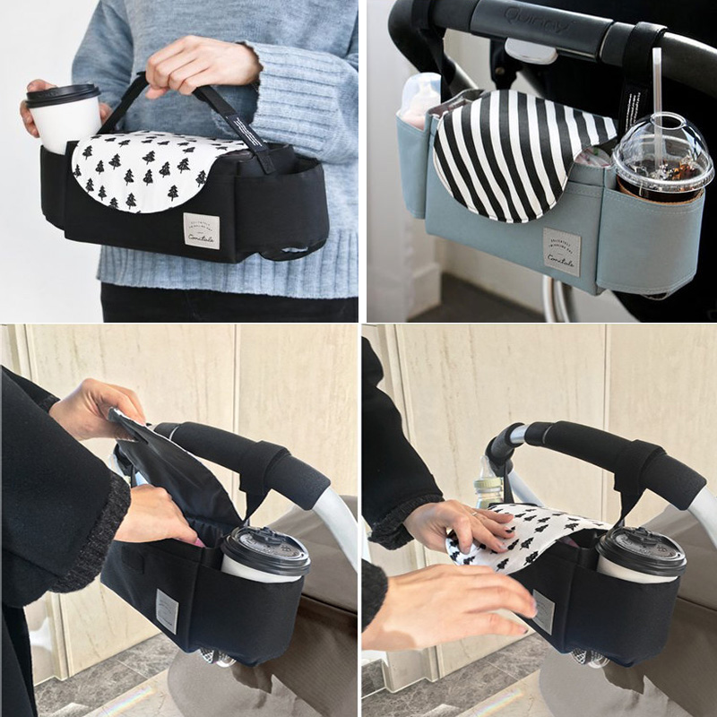Universal Baby Stroller Organizer Mummy Diaper Bag Multifunction Mummy Bag Baby Carriage Pram Cup Holder Stroller Accessories
