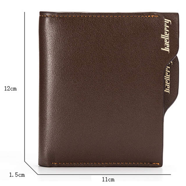 afb4f57170 US $4.81 32% OFF|Baellerry Short Men Wallets Leather Coin Pocket Male ID  Credit Card Holder 3 fold Clutch Wallet Men Purses Coin Cartera W022-in ...
