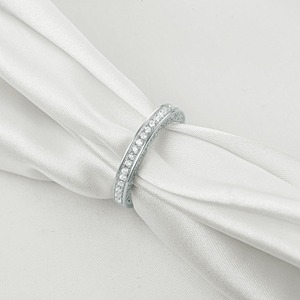 Image 2 - Newshe 925 Sterling Silver Straight Stackable Wedding Ring Engagement Band For Women Trendy Jewelry Size 5 12