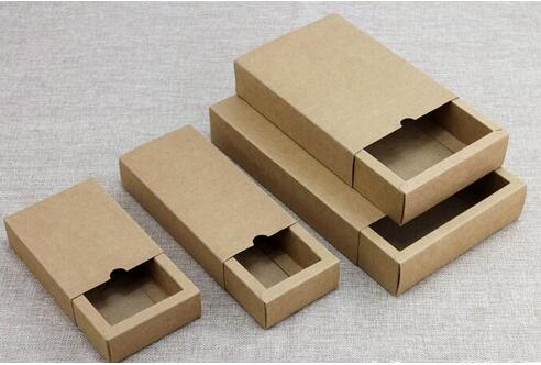 150 pcs Livraison Gratuite Cadeau boîte Au Détail Noir Kraft Papier Tiroir Boîte Cadeau Artisanat Puissance Banque Emballage Boîtes En Carton