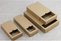 150pcs Free Shipping Gift box Retail Black Kraft Paper Drawer Box Gift Craft Power Bank Packaging Cardboard Boxes