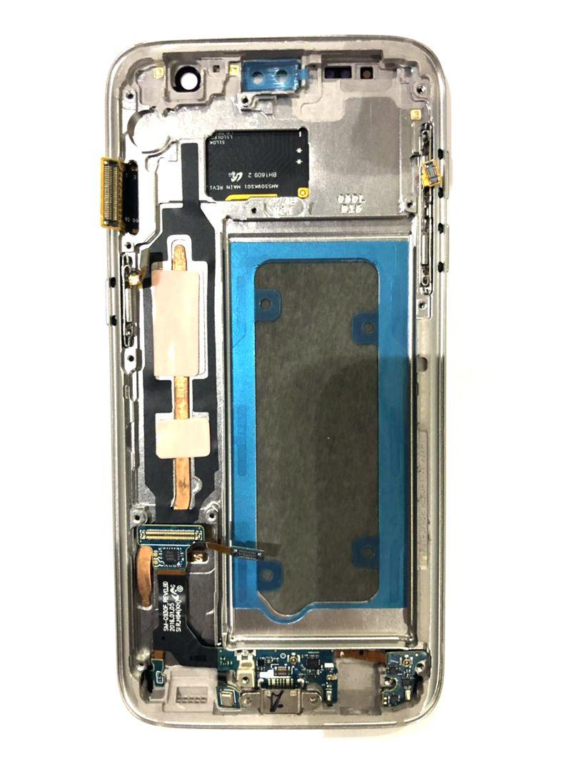 Amoled pour Samsung Galaxy S7 G930 G930F écran Lcd + écran tactile en verre numériseur cadre réparation s7 Amoled