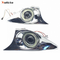 For Toyota Camry 2011 2012 2013 LED COB Angel Eyes DRL Yellow Signal Light H11 Halogen / Xenon Fog Lights with Projector Lens