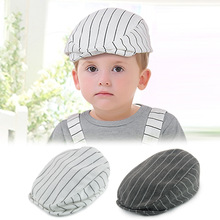 Baby Kids Boys Girls Cute Cotton Stripe Beret Cap Boy Girl Peaked Baseball Casquette Hat