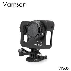 Image 1 - Vamson voor Gopro Accessoires Aluminium Metalen Beschermende Behuizing Case CNC Frame + Lens Cap Cover Filter voor Gopro Hero 4 VP636