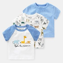 Cartoon Baby Boys Toddler Shirts Casual Short Sleeve Kids T-shirt 2019 Summer Children Boys Girls Tee Shirts Tops Clothes 2-8T стоимость