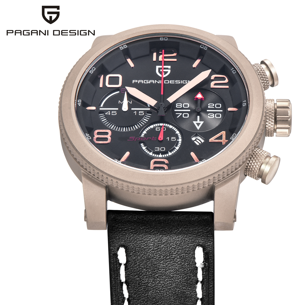 цены PAGANI DESIGN Luxury Brand Men Quartz Watches Genuine Leather Waterproof Casual Wrist watches Man Sport relojes Outdoor Clock