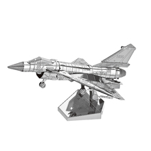 Nanyuan 3D Metal Puzzle Air force J-10B Model DIY Laser Cut Assemble Jigsaw Toys Desktop decoration HIFF For Audit