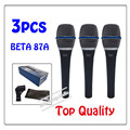 3pcs wholesale Top Quality Beta 87A Clear Sound Handheld Wired Karaoke Microphone