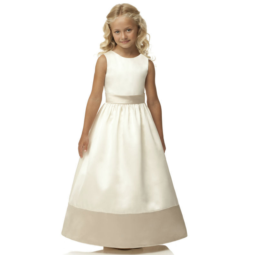 ФОТО New Arrival First Communion Dresses for Girls Ankle Length A-Line Hot Patchwork O-Neck Bow Sash Sleeveless Flower Girl Dresses