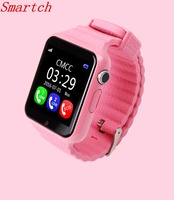 Smartch GPS smart watch kids watch V7k with camera/facebook SOS Call Location DevicerTracker for Kid Safe Anti Lost Monitor PK Q