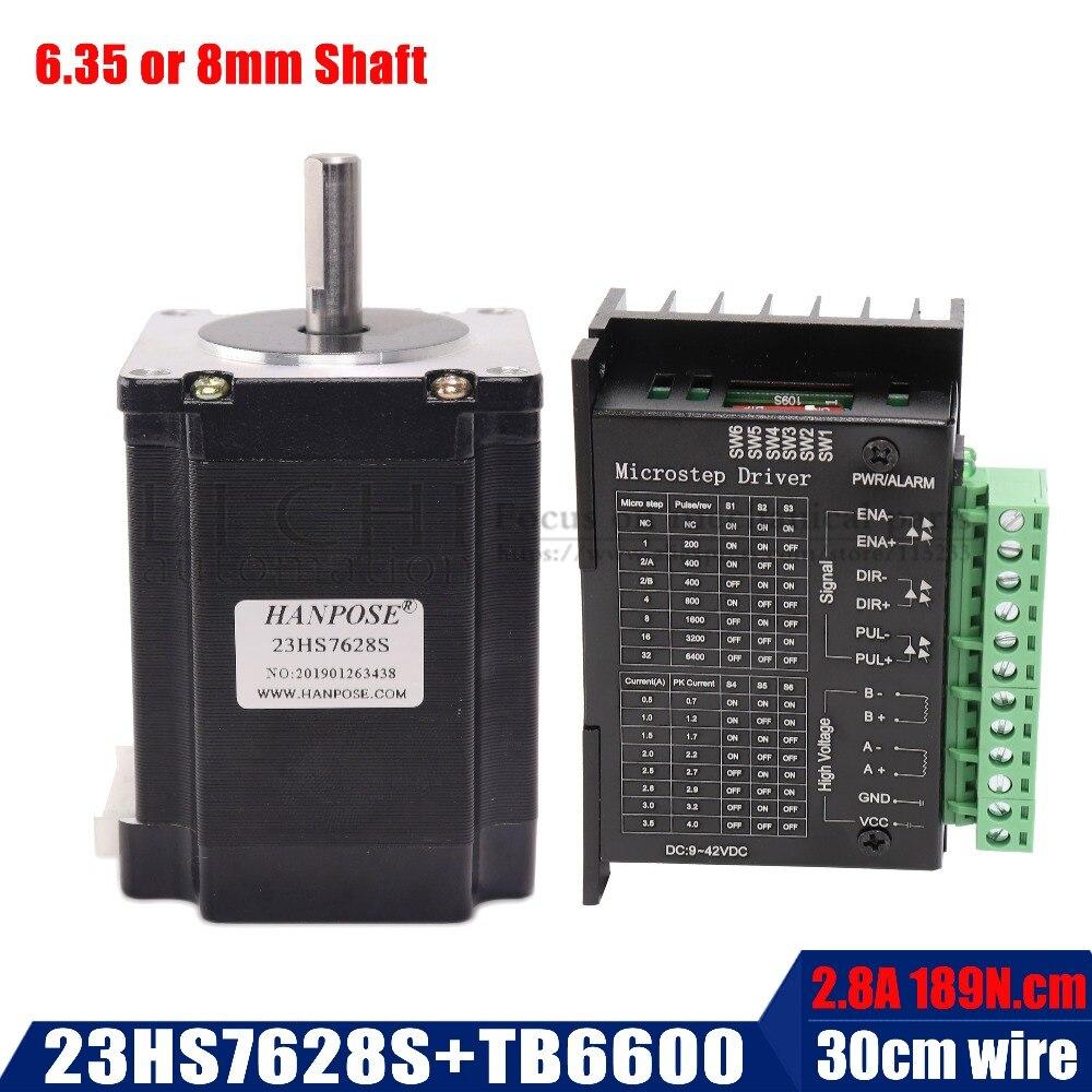 2 phase, 4-Leads 20Kgcm CNC Nema 23 Stepper Motor 57x76mm 189n.cm 23hs7628S 23hs8430  270 Oz-in motor