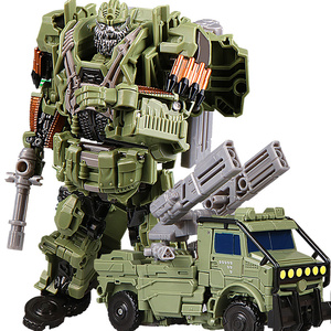 Image 1 - COOL Transformation Toys For Children Movie 5 Series Plastic ABS + Alloy Anime Action Figure Model Robot Car Toy Boy Kids Gift