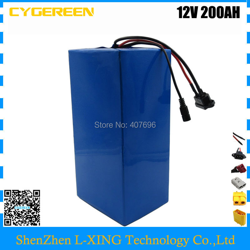 Rechargeable 500W 12V 200AH battery 12Volt Lithium ion battery for 12V 3S Li ion Battery with 12.6V 10A charger EU US no tax free customs fee 350w 12v 40ah battery 12 v 40000mah lithium ion battery for 12v 3s rechargeable battery 12 6v 5a charger