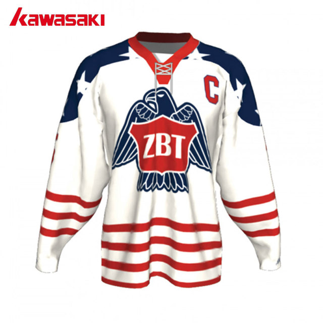 Kawasaki Custom USA Ice Hockey Shirt Jersey With Rope Men Sublimation  Printing Plus Size Youth Sports 76f7efc4e0b