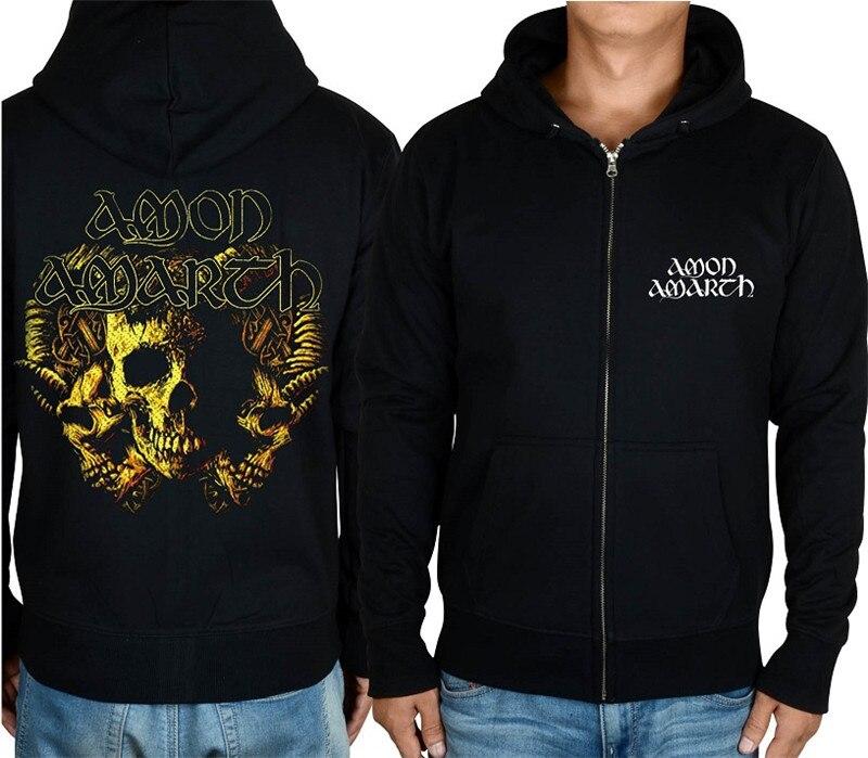21 конструкции Амон рок молния хлопковые толстовки куртка sudadera панк тяжелый металл 3D череп флис Викинг Толстовка - Цвет: 14