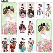 Модный прозрачный чехол MLLSE для мамы, девочки и мальчика, чехол для samsung Galaxy S10 Lite S9 S8 Plus S7 S6 Edge S5 S4 Mini
