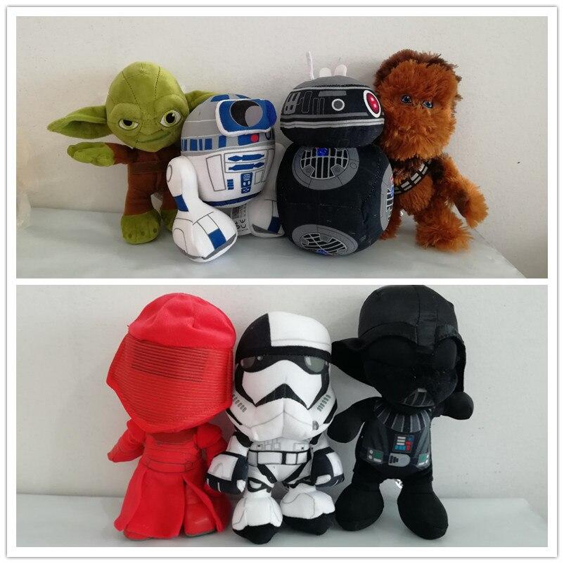 Star Wars Porg Uccello BB9E Darth Vador Storm Trooper R2D2 pretorio Guardia Giocattoli di Peluche Bambola Molle Per Ragazzi Bambini Natale regali