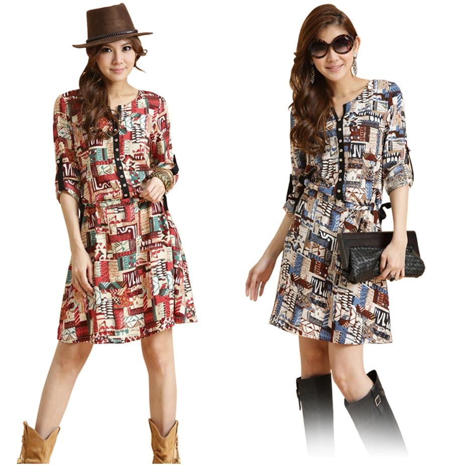 Aliexpress.com : Buy plus size printed dresses Women New print ...