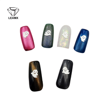 Free Shipping 10Pcs 3D Nail Halloween Style Art Silver Ghost 2017 Decoration New Design Charms Fashion