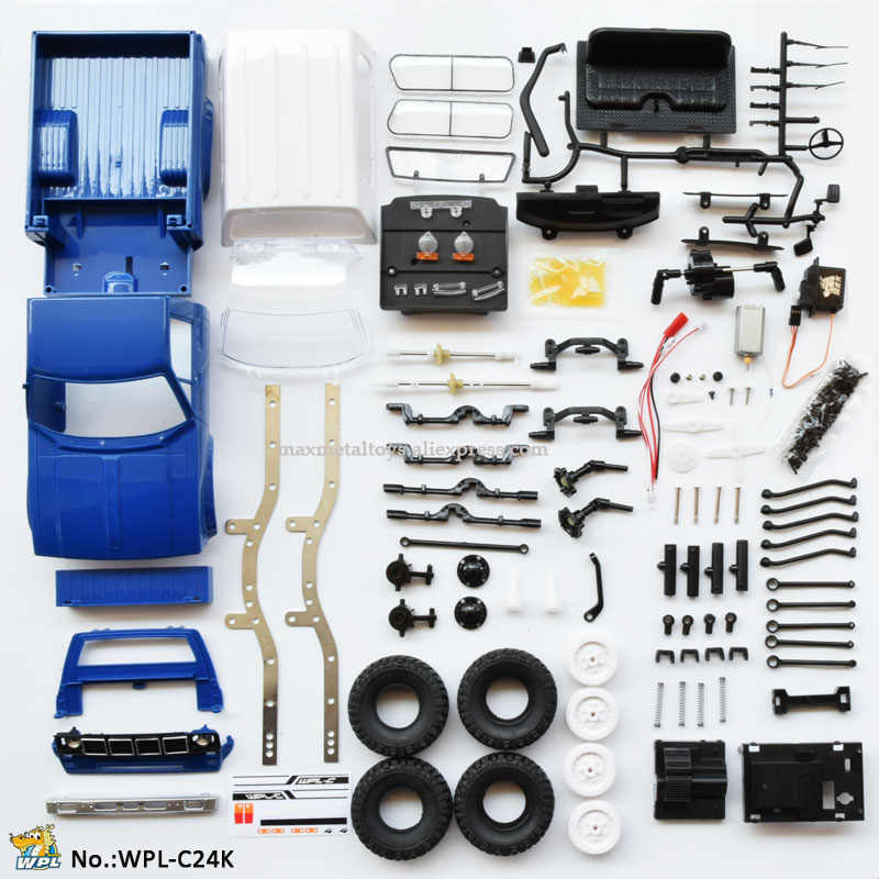 WPL C24 RC Turck 1:16 Auto KIT DIY Afstandsbediening Auto 2.4G RC Crawler Off-road Car Buggy moving Machine RC Auto 4WD Kids Jongens Speelgoed