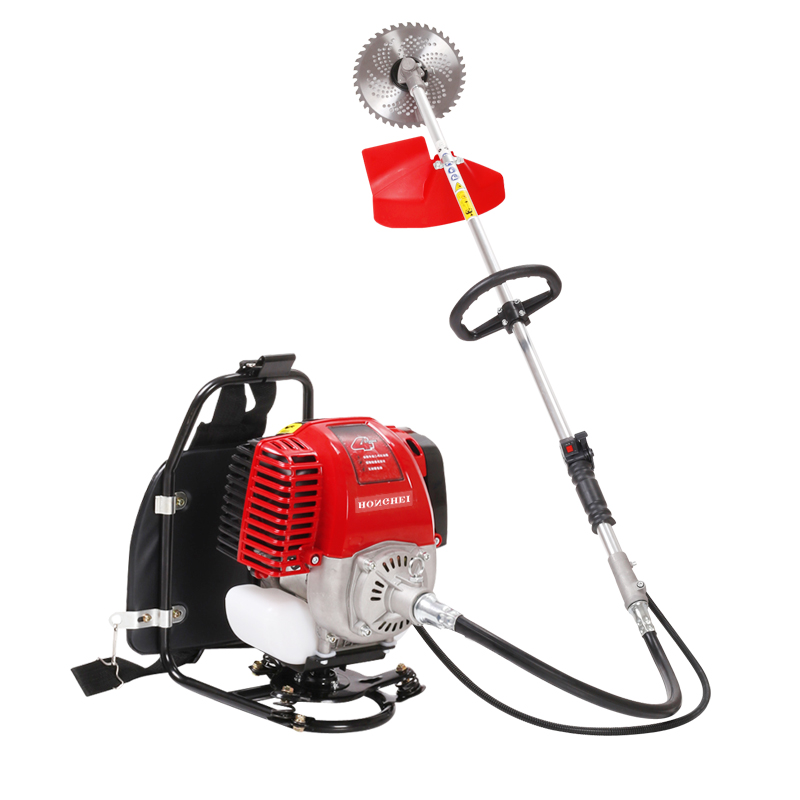 2.5 horsepower small single cylinder four stroke backpack home gasoline brush cutter / weeder / pruning machine / lawn trimmer