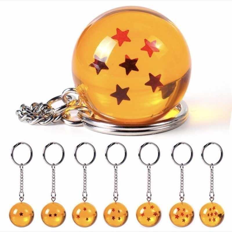 ZOEBER anime Dos Desenhos Animados Dragon Ball Z DBZ cosplay Chaveiro Criança 7 Dragonball Z Estrelas Crystal Ball Chaveiros PVC Pingente de chave titular