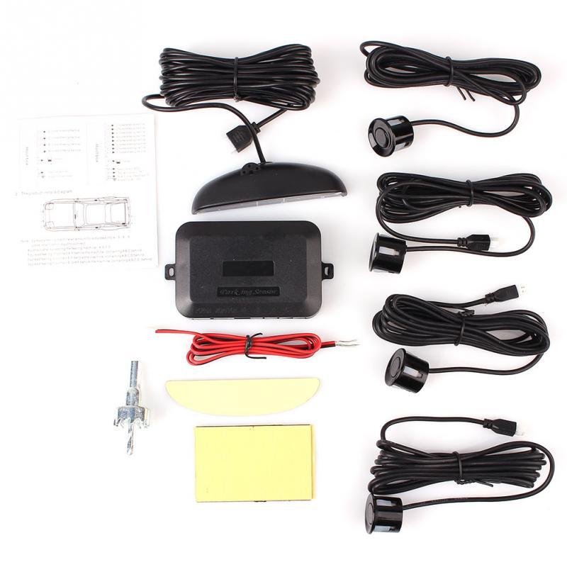 1 компл. СИД датчика парковки Комплект дисплей 4 датчики для всех автомобилей Обратный помощь резервный радиолокационной системы Monitor