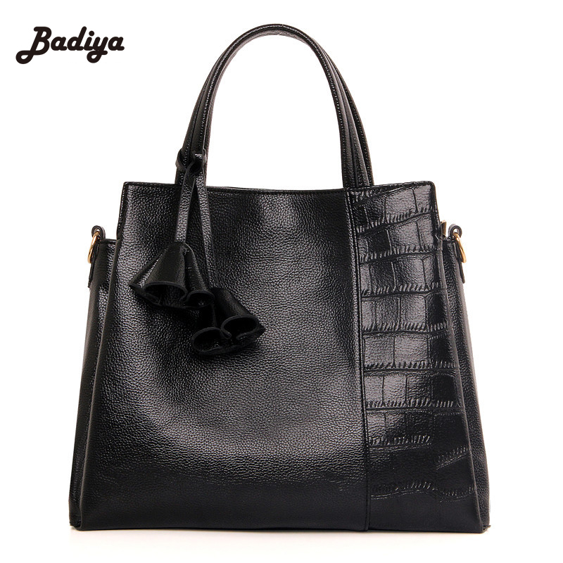 PU Leather Handbag Fashion Women Tassel Bag Totes Women Brief Shoulder Bags Large Capacity Luxury Handbags Women Black Bags