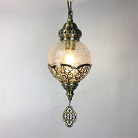 Moroccan Turkish Style Retro Vintage Pendant Light E27 Base Mediterranean Style Decoration Mosaic Hanging Lamp