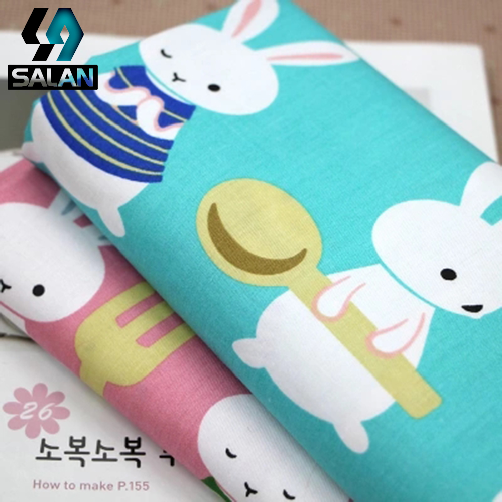 Bunny cotton printed cloth cloth clothing children s bed sheets quilt fabric spot wholesale